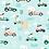Thumbnail: Coton imprimé course de lapins