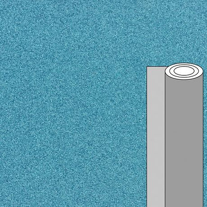 Coupon tissu pailleté bleu