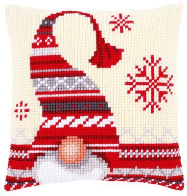 Kit au point de croix Canevas - Lutin de Noël