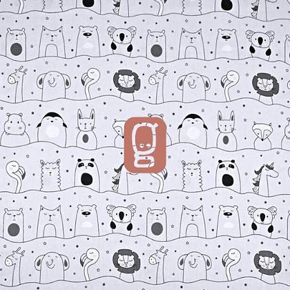 Coton imprimé animaux