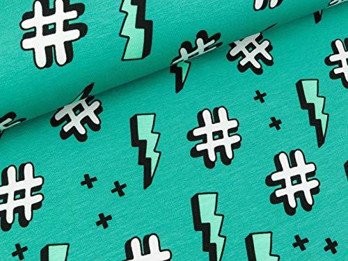 Jersey de coton GOTS hashtag