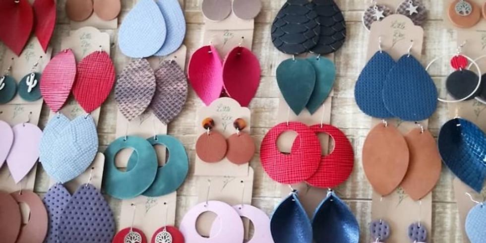 Atelier Bijoux : boucles d'oreilles en cuir