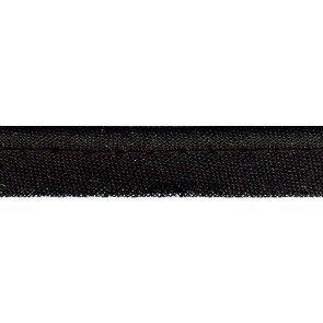 Passepoil tout textile noir - 10 mm