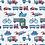 Thumbnail: Coton imprimé véhicules