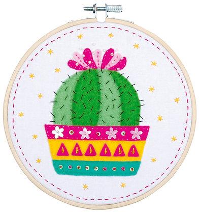 Kit d'artisanat avec feutre Cactus