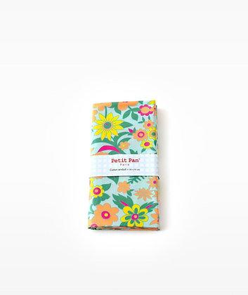 Coupon coton Hippie azur - Petit Pan