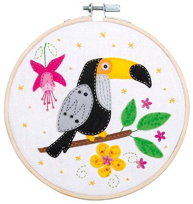 Kit d'artisanat avec feutre Toucan