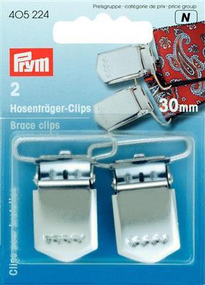 Set de 2 clips pour Bretelles - 30mm - Prym