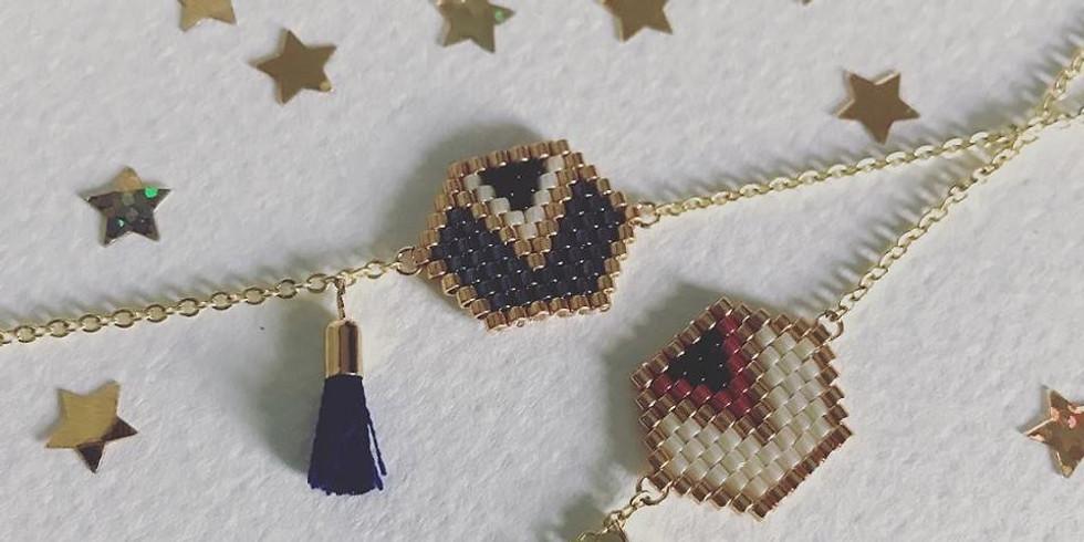 Réalisation d'un bracelet en perles de verre