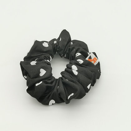 Chouchou Black & White Coeurs