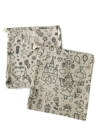 Lot de 2 sacs en tissu multi usages