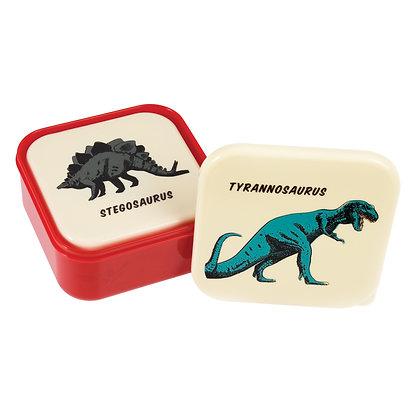 Trio de boites à collations dinosaures