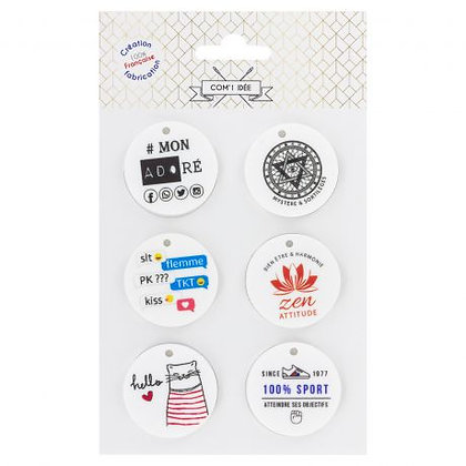 Boutons message 38mm