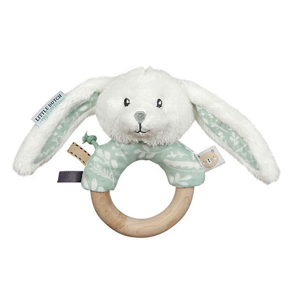 Little dutch - hochet anneau lapin adventure mint