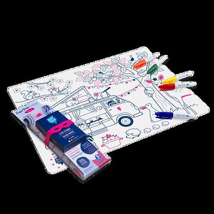 Set de table en silicone à colorier Drean Van - SuperPetit