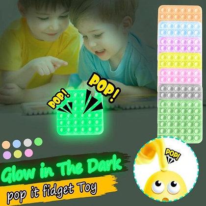 Pop It Fidget Toy Game - Square Glow in the Dark