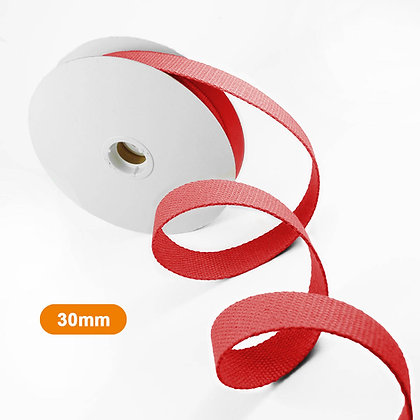 Sangle rouge 30mm x 1 mètre