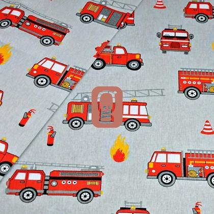Coton imprimé véhicules pompier
