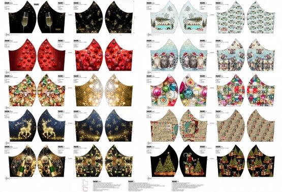 Panneau coton pour masque Spécial Noël - Stenzo