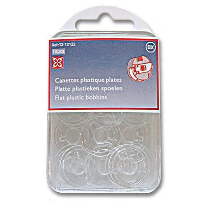Canettes plastiques plates