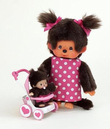 Peluche Maman et son bébé (20cm) - Monchhichi