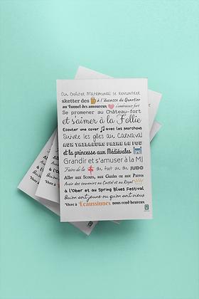 Affichette format A4 Ecaussinnes