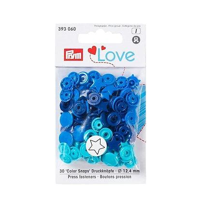 Boutons pression Prym Colors Snaps Love étoile bleu - Prym Love