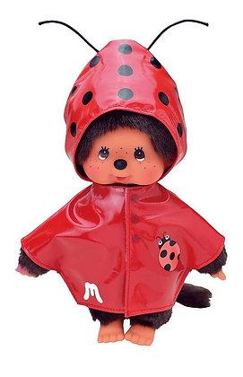 Veste de pluie rouge coccinelle pour Monchichi