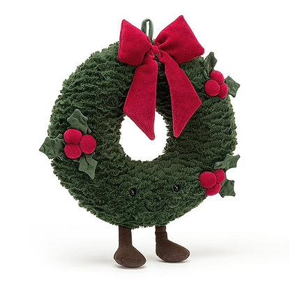 Couronne de Noël- Houx - Jellycat