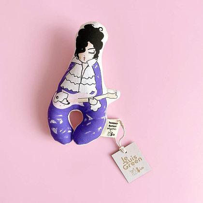 Hochet bébé bio | Mr purple rain | Coton bio certifié GOTS | jouet bébé