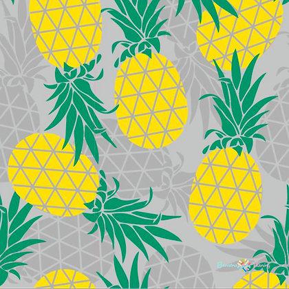 Tissu enduit motif ananas