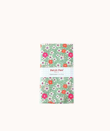 Coupon coton enduit Fleurs des îles vert d'eau - Petit Pan