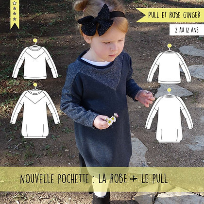 Patron Sweat et Robe Ginger 2/12 ans - Super Bison - Super Bison