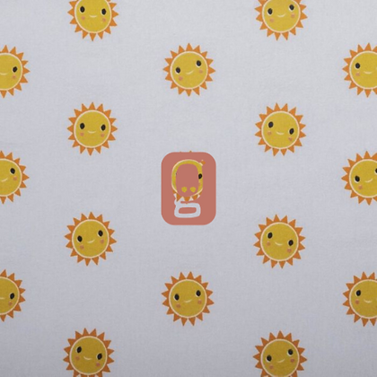 Coton imprimé soleil d'été