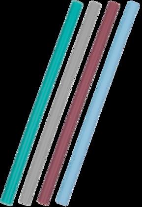 Pack de 4 pailles en silicone -  Flexi - Minikoioi