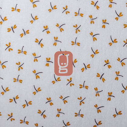 Coton imprimé libellules