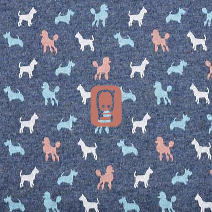 Jersey Poppy Dogs Parade bleu