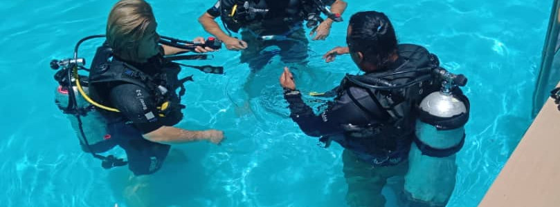 Confined Water - Pool Training at Scuba Club Langkawi Training Facility