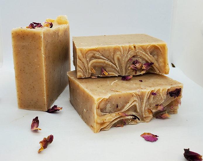 Shea Butter Soap - Exfoliating Oatmeal & Rose Petal
