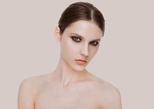 Modelo de moda de belleza