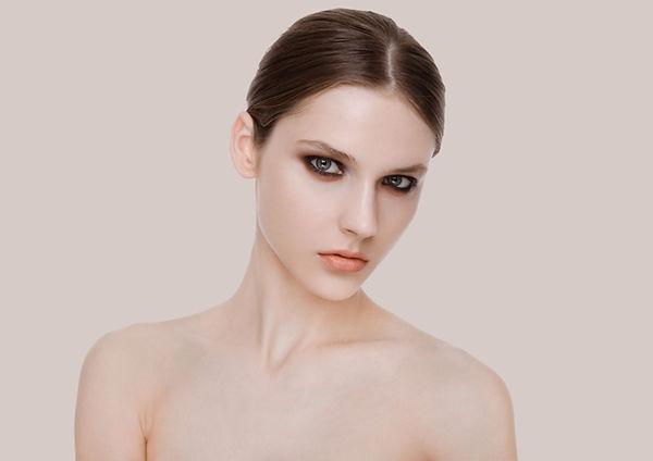 Modelo de moda beleza