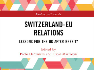 Just published: new book on Switzerland-EU Relations