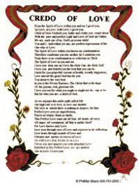 Credo of Love Print