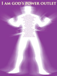 "God's Power Outlet  Poster 16"" x 29"""