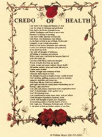 Credo of Health Print