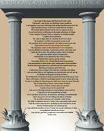 Credo for Riches & Honor PRINT