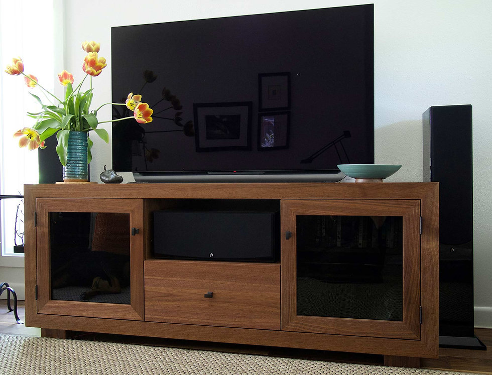 Handcrafted Solid Walnut Media Console