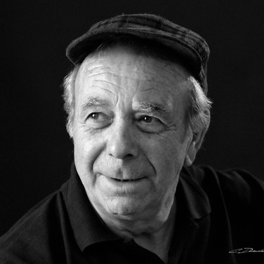 Portrait de senior en noir et blanc