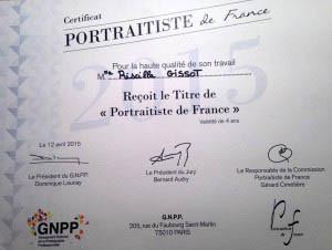 """Priscilla G récompensée du titre """"Portraitiste de France"""""""