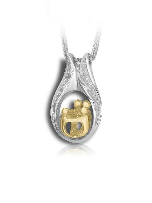 Family Pendant with 2 Adults and 2 Children